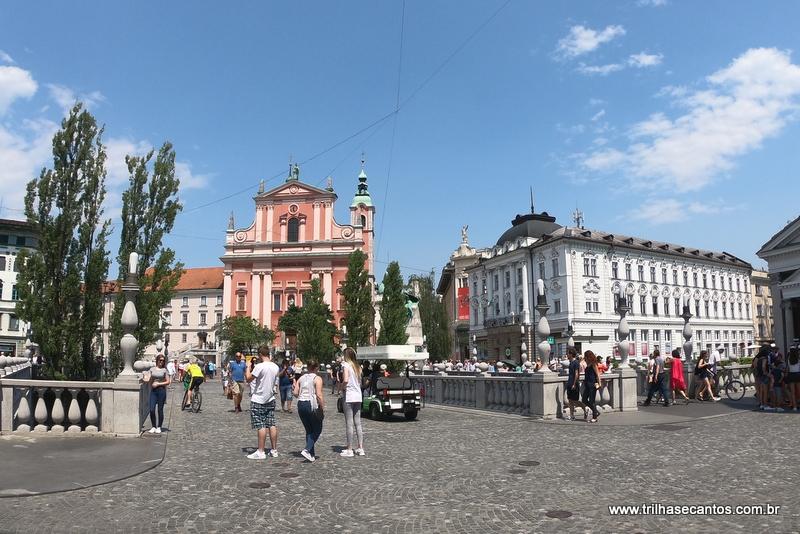 Praça France Preseren Ljubljana Eslovênia