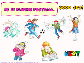 FUN ENGLISH KIDS - INFANT and PRIMARY: GAME - Present Continuous