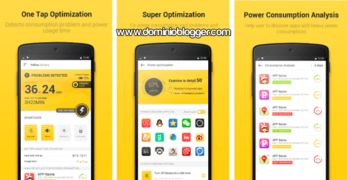 App Yellow Battery para Android