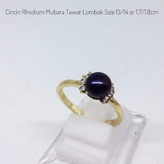 Supplier Mutiara Lombok Cincin Rhodium