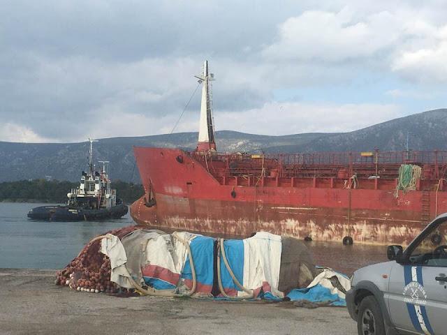 Με ρυμουλκό απομακρύνθηκε από το λιμάνι της Κοιλάδας το δεξαμενόπλοιο «ΠΟΣΕΙΔΩΝ»