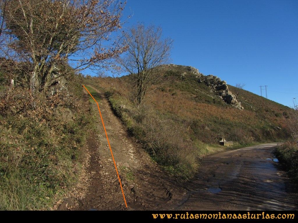 Area Buyera, picos Grandamiana y Plantón: Camino al Plantón