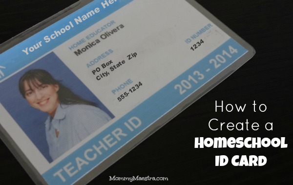 Mommy maestra the benefits of a homeschool id card for for Homeschool id template