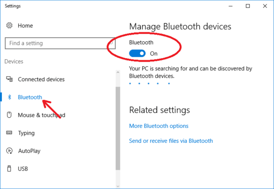 How to turn on bluetooth on windows 10 howali how to turn on bluetooth on windows 10 ccuart Images