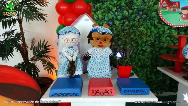 Decoração de aniversário tema Chapeuzinho Vermelho - Festa feminina