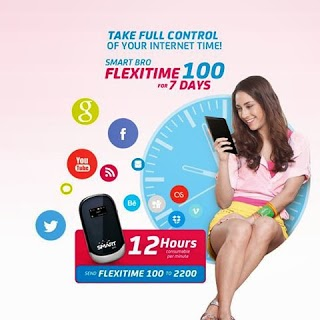 Smart Bro FLEXITIME 100,  50, 30, 20  internet Browsing Promo