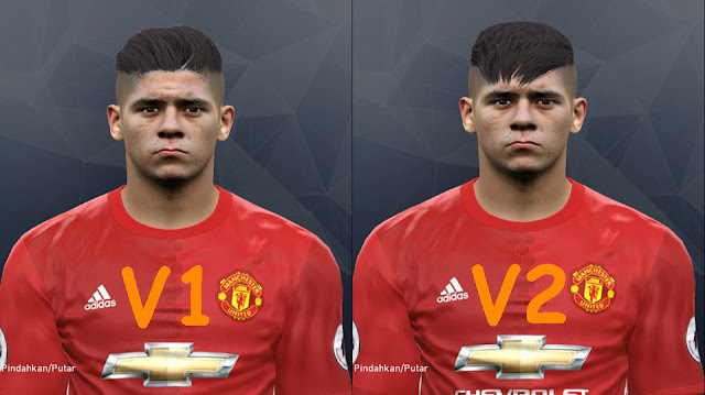 PES 2017 Marcos Rojo Face by Tunizizou Collab With Alief