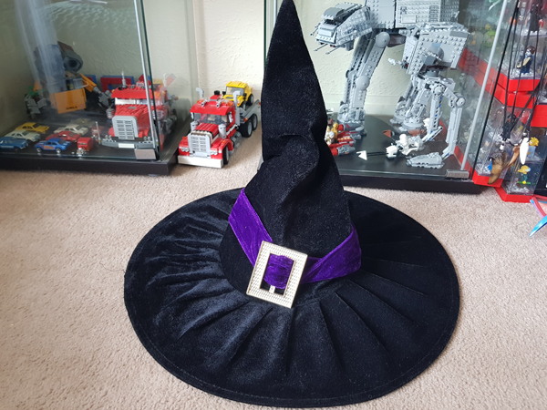 Just a plain old witch's hat soon to be transformed