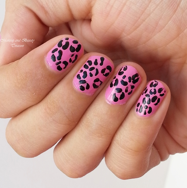 leopard print nail art images