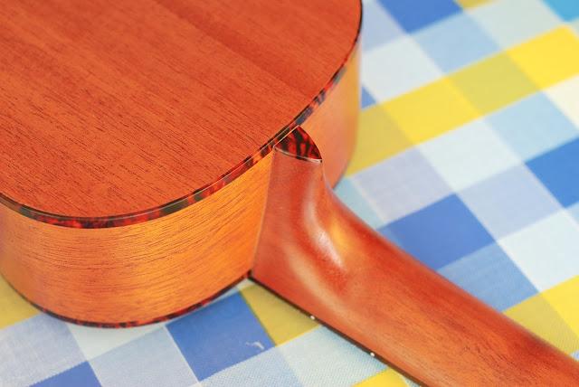 Islander MST-4 ukulele neck and heel