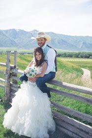 bride and groom  - western wedding