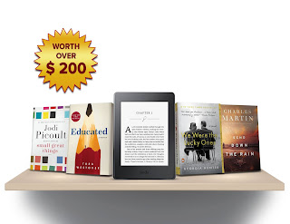 Win Amazon Paperback eReader + Bestseller Books #Worldwide