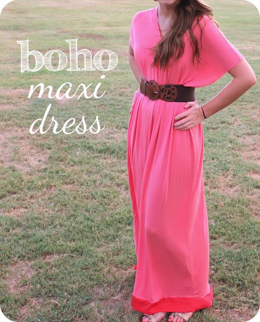 3dfd72318 Boho Maxi Dress  a tutorial