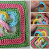 Square crochet with rings in video tutorial