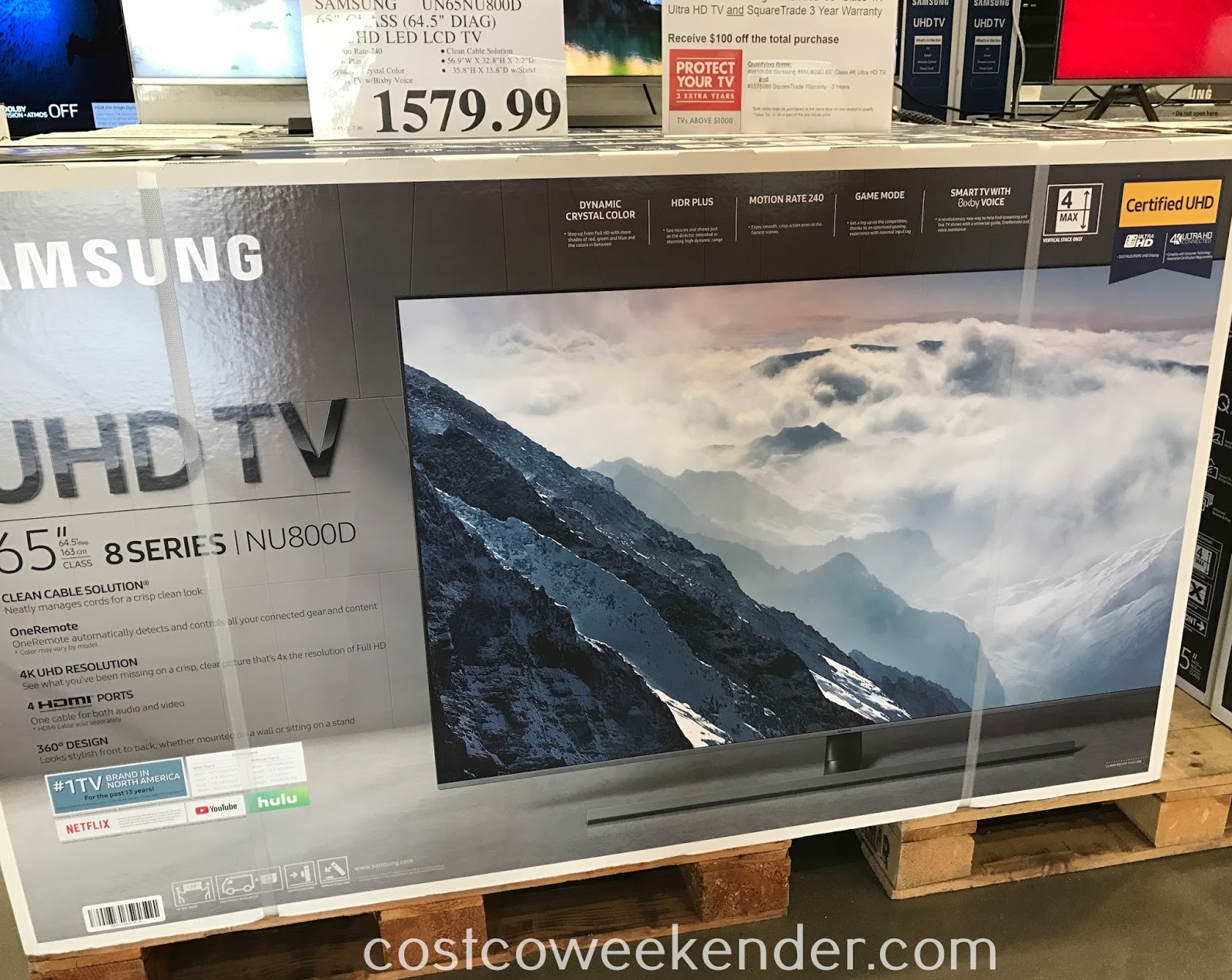 Costco 9650008 - Samsung UN65NU800D 65in 4K UHD LED LCD TV: good quality and stunning picture