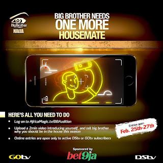 BBNaija Audition Call Application 2019 [One More Housemate Needed]