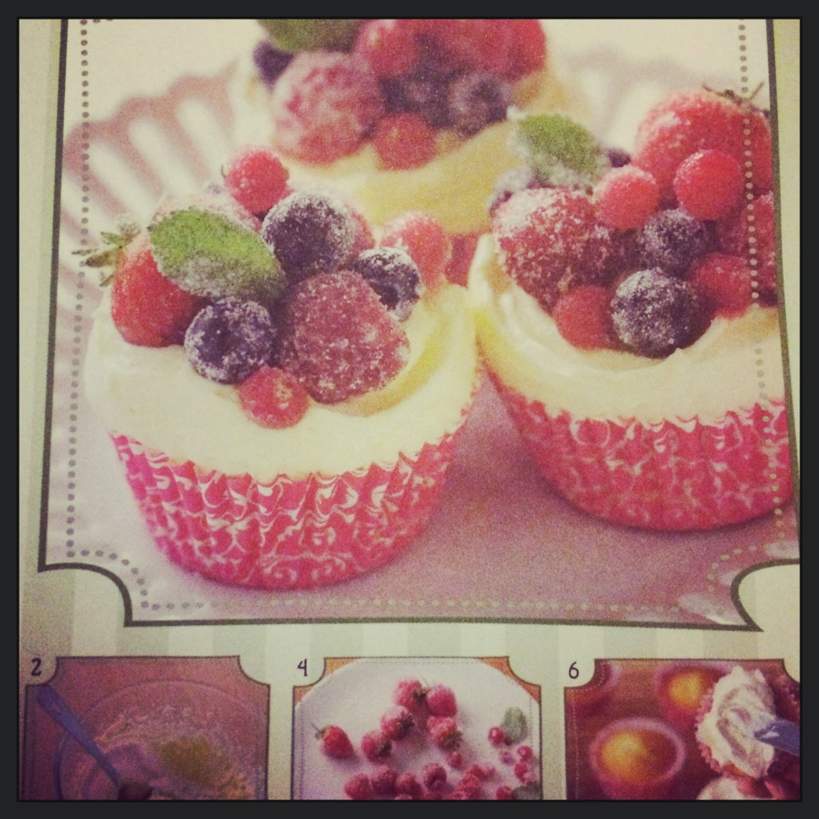 frosted berry cupcakes