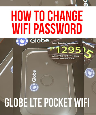 How To Change Wifi Password | Globe LTE Pocket Wifi (Huawei e5573cs-933)