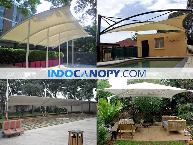 tenda membrane tangerang jasa canopy membrane awning