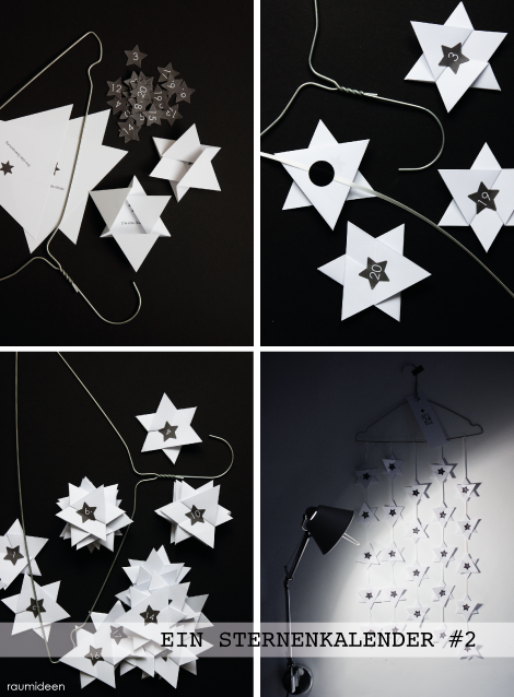 Adventskalender basteln  - Sterne
