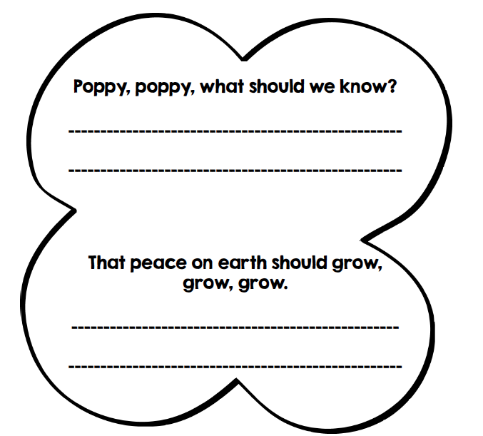 Remembrance Day art ideas, writing freebie and clipart. Kindergarten to Grade 3. #gradeonederful #remembranceday #remembrancedaycraft #remembrancedayart