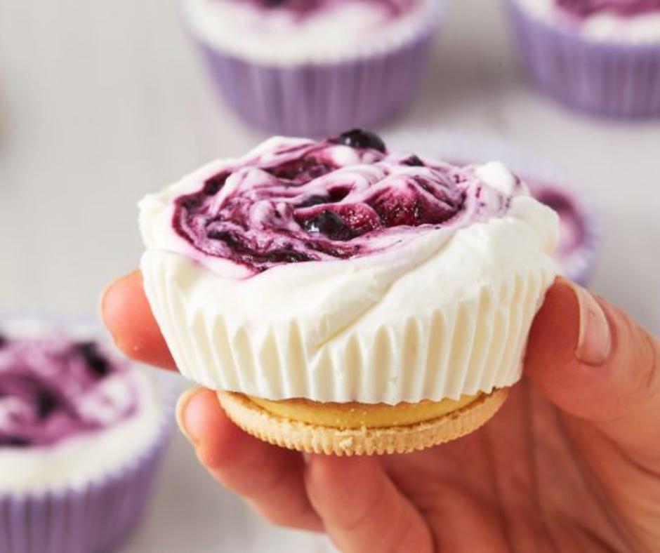 Lemon Blueberry Mini Cheesecakes - food-drink-recipes.com