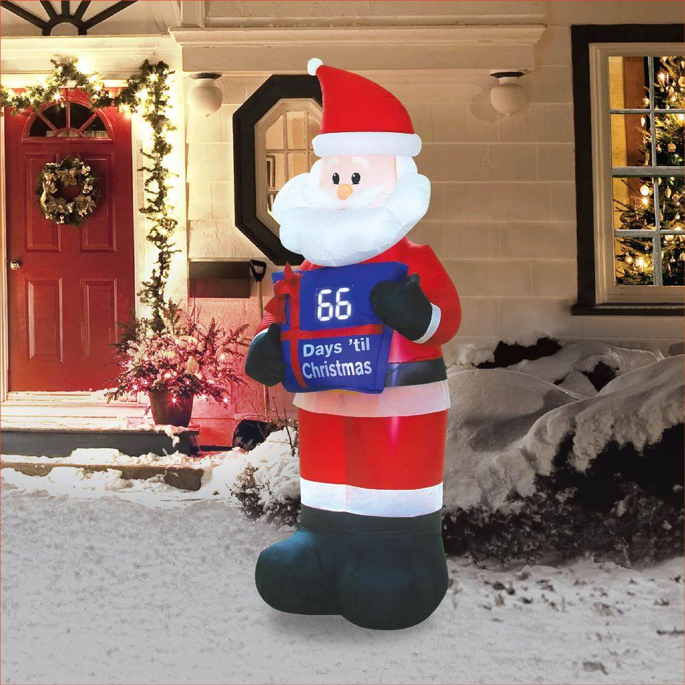 inflatable electronic countdown sign santa by occasions brings countdown clocks to new level you set the clock to the number of days left once during the - Home Depot Inflatable Christmas Decorations