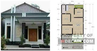 Desain Rumah 6x12 3 Kamar 1 Garasi dan Taman Belakang