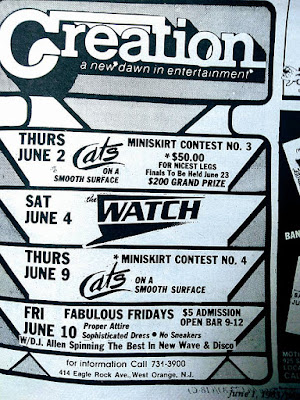 Creation band lineup June 1983