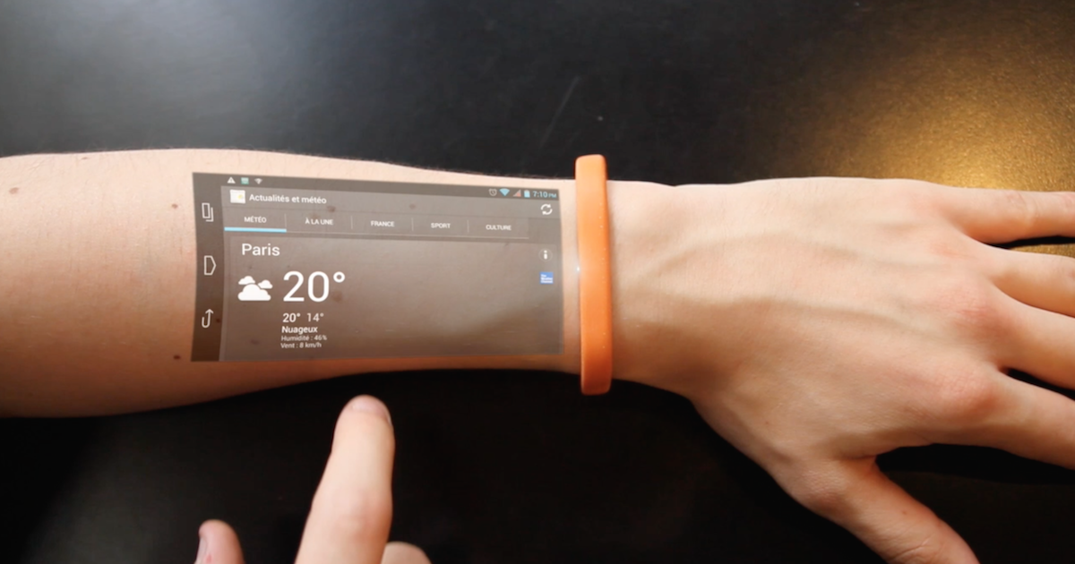 Cicret Bracelet Turns Your Arm into Touchsreen Interactive Display