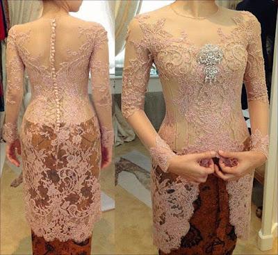 model baju batik kebaya modern