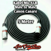 Kabel Mic XLR 5 Meter Male to Male Jack Canon Canare