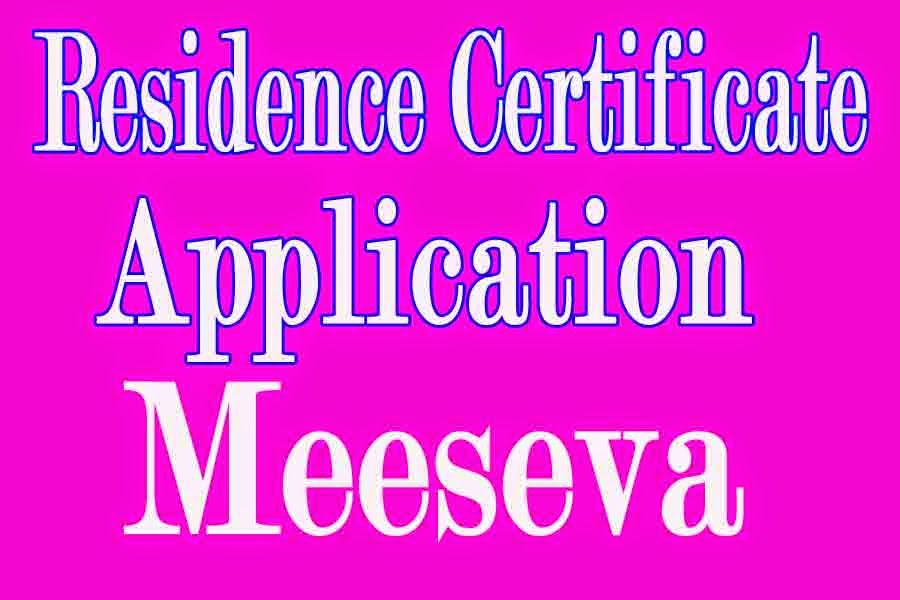 Residence Certificate Apply in Meeseva