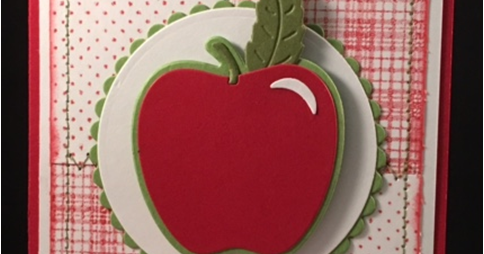 Apples for the Teachers - Apple on Inky Patchwork