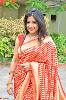 Sakshi Agarwal  in Orange Saree at Inauguration of Handloom And Handicraft exhibition ~  Exclusive 09.JPG