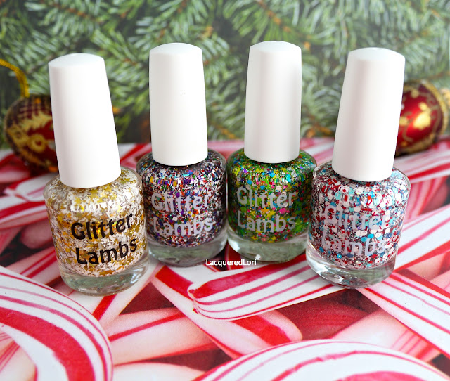 Christmas Custom Handmade Indie Lacquer. Christmas Nails.
