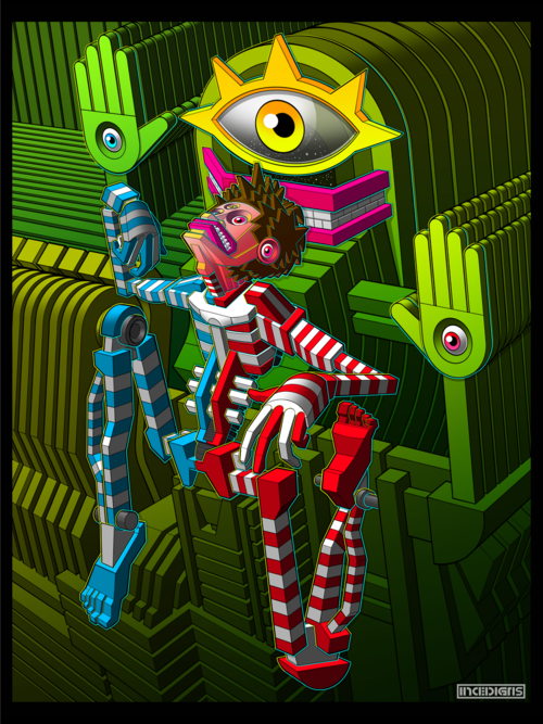 DMT-Inspired Artwork by INCEDIGRIS