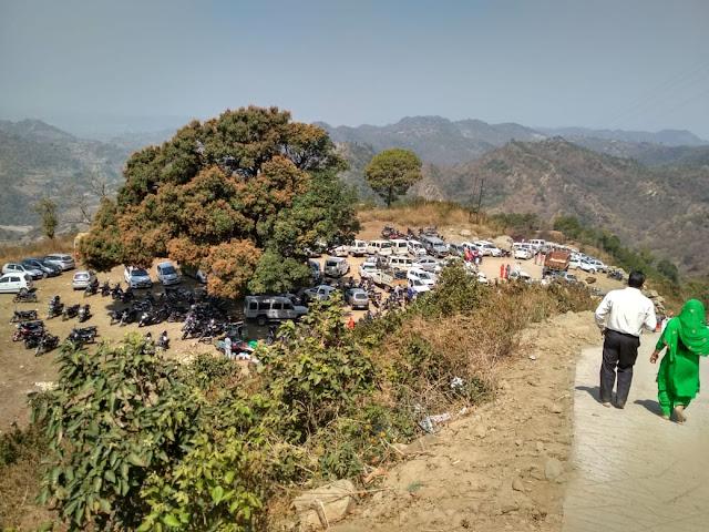 Special view of Morni hills | Samlashan Devi Temple | Samlotha Temple