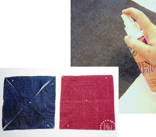 fabric Patriotic Pinwheels