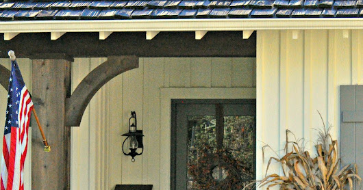 Farmhouse Fall Porch Decor