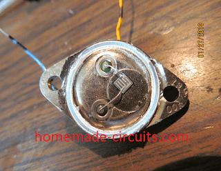 solar cell from 2N3055 transistor