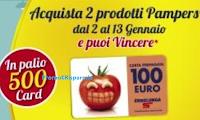 Logo Con i prodotti Pampers vinci 500 Card Esselunga da 100€: scopri l'anticipazione