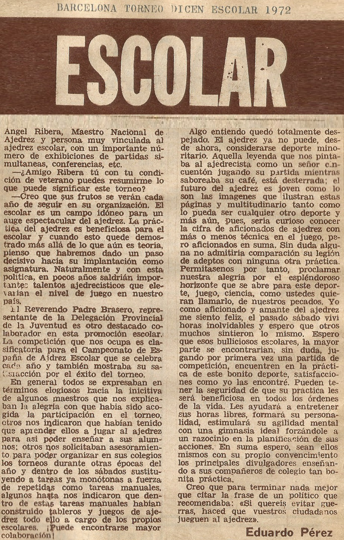 Trofeo Dicen Escolar 1972