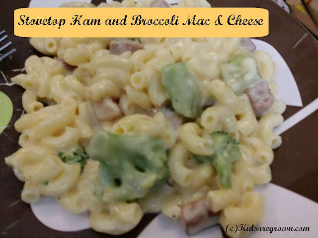 Gluten Free Stovetop Ham and Broccoli Mac & Cheese