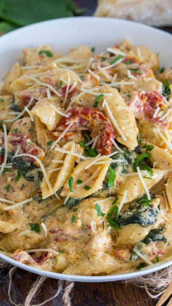 Easy Instant Pot Tuscan Chicken Pasta