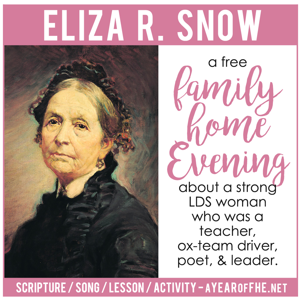 Lds Quotes On Family Home Evening: A Year Of FHE: LDS Family Home Evening // Eliza R. Snow
