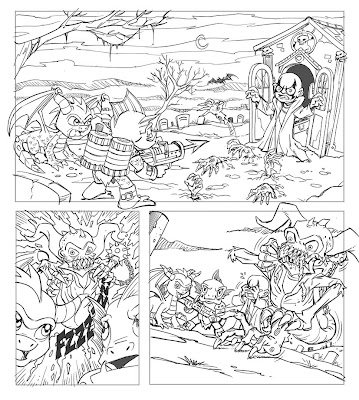Skylanders giants coloring pages drobot wow pow ~ gill grunt | Tumblr