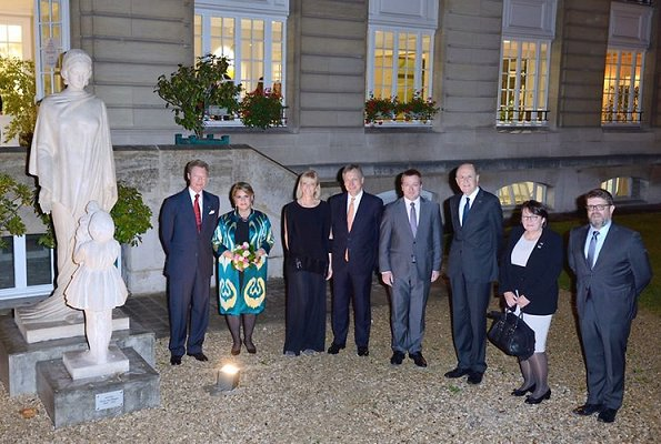 Duke Henri and Duchess Maria Teresa attended 90th anniversary reception of Biermans-Lapotre Foundation