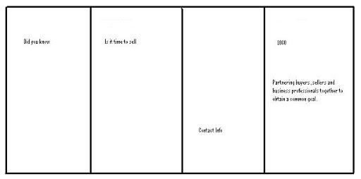 quad fold brochure templates