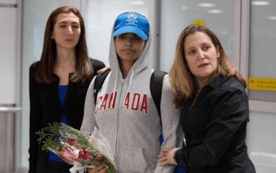 فتاة سعودية ترتد عن الاسلام و تصل كندا بعد تقديم طلب لجوء اليها.